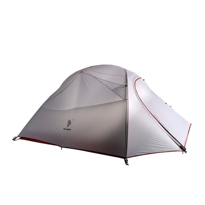 Hillman Ultraleicht doppelschicht aluminium pole 3 personen verwenden wasserdicht winddicht camping zelt mit unteren matte