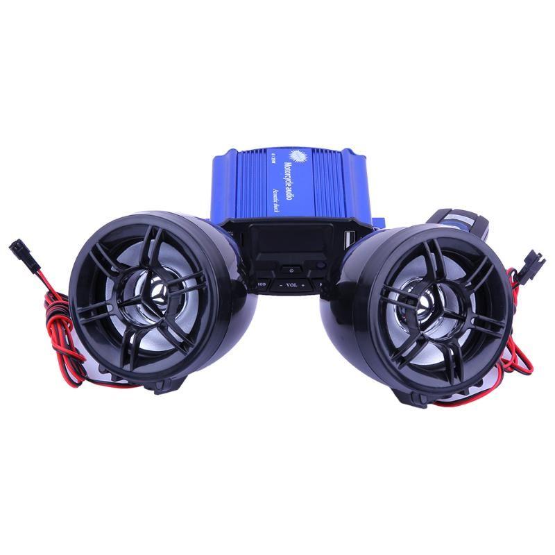 Bici de la motocicleta de Audio FM de Radio Reproductor de MP3 Pantalla LCD de Protección de Robo de Automóviles Sistema de Control Inalámbrico Para Altavoces Estéreo de Sonido