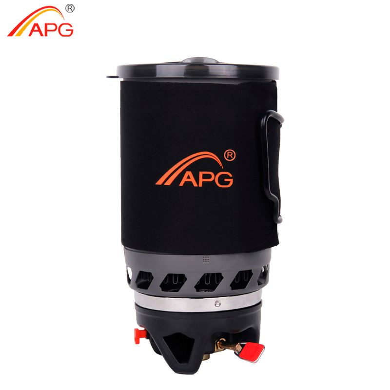 APG Outdoor Portable Cooking System Hiking Camping Stove Heat Exchanger Pot Propane Gas Burners