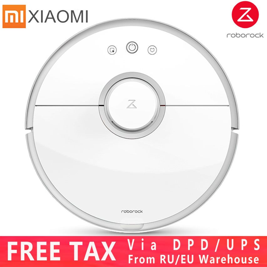 Upgrade Xiaomi 2 Generation Robot Vacuum Cleaner, Mopping & Sweeping Roborock Vacuum Cleaner with Remote App Control S50/S51