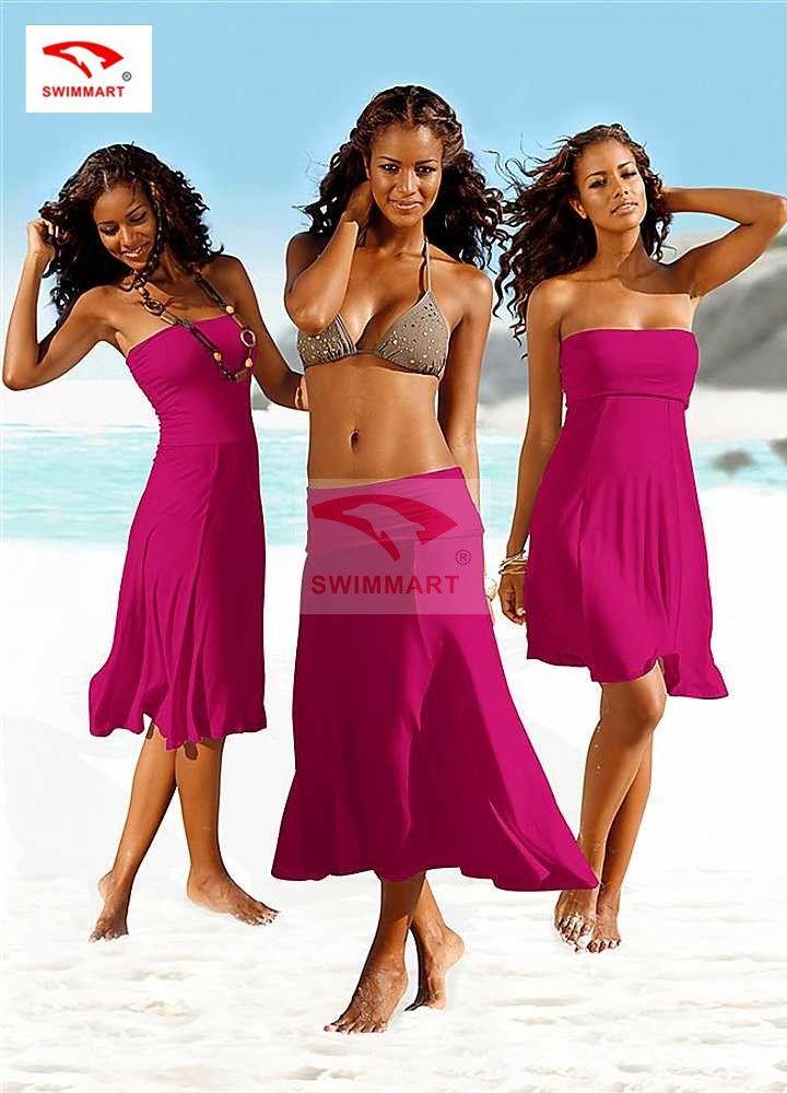 Nagmart plage jupe 2016 éclaté femmes Bikini à l'extérieur de la Blouse plus multi-porté jupe enveloppé poitrine robe S M L XL