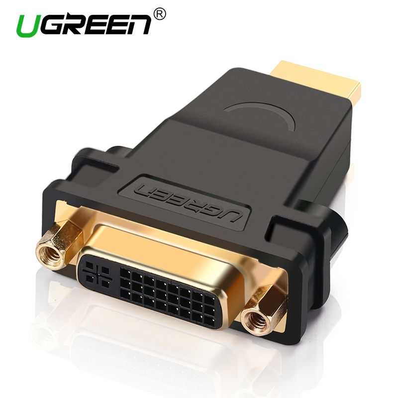 Ugreen HDMI to DVI Male to Female Converter Adapter 1080P Connector for HDTV DVD Projector HDMI to DVI Adapter DVI 24+5 to HDMI