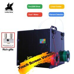 Летающий медведь торнадо 2 Pro большой 3d принтер DIY Полный металлический линейный рельс 3d принтер комплект высокого качества точность двойно...
