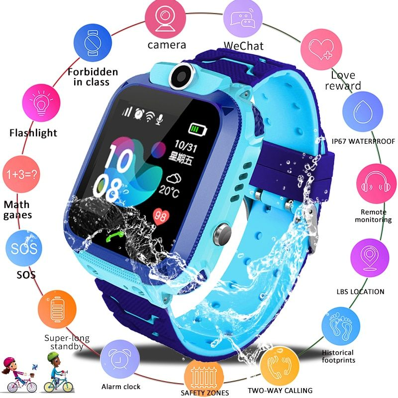 LIGE 2019 Neue Wasserdichte smart Kind Uhr SOS Notruf smartwatch LBS Positioning Tracking kinder smart watch Kinder + Box