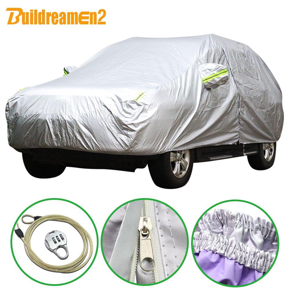 Buildreamen2 New Car SUV Sedan Hatchback Cover Anti-UV Outdoor Rain Shield Snow Protection Covers Sun Shade Styling Waterproof