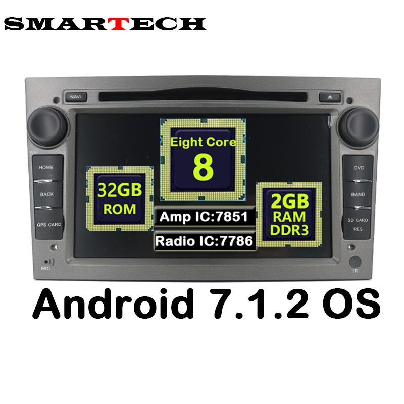Octa Core Android 2G RAM 32G ROM For Opel Astra 2Din Car DVD Audio Player GPS For Vauxhall Opel Astra Vectra Antara Zafira Corsa