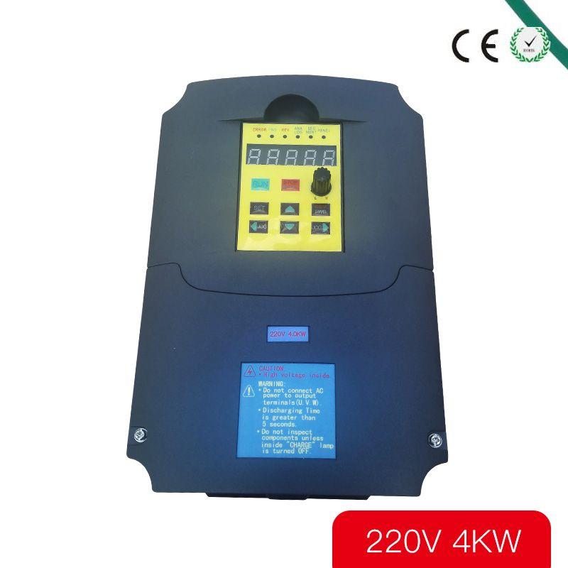 Pour Russe CE 220 v 4kw 1 phase d'entrée et 220 v 3 phase sortie fréquence convertisseur/ac motor drive/VSD/VFD/50 HZ Onduleur
