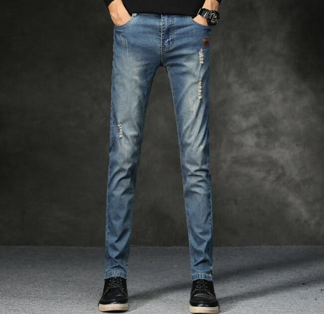 2018 New Arrival Causal Designer Slim Straight Jeans For Men Free Shipping