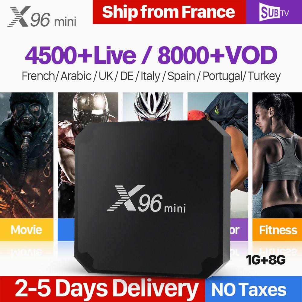 X96 mini IPTV France Android 7.1 Smart WIFI 4K H.265 IPTV Media Player X96mini 1 Year SUBTV Code French Belgium Arabic IPTV Box
