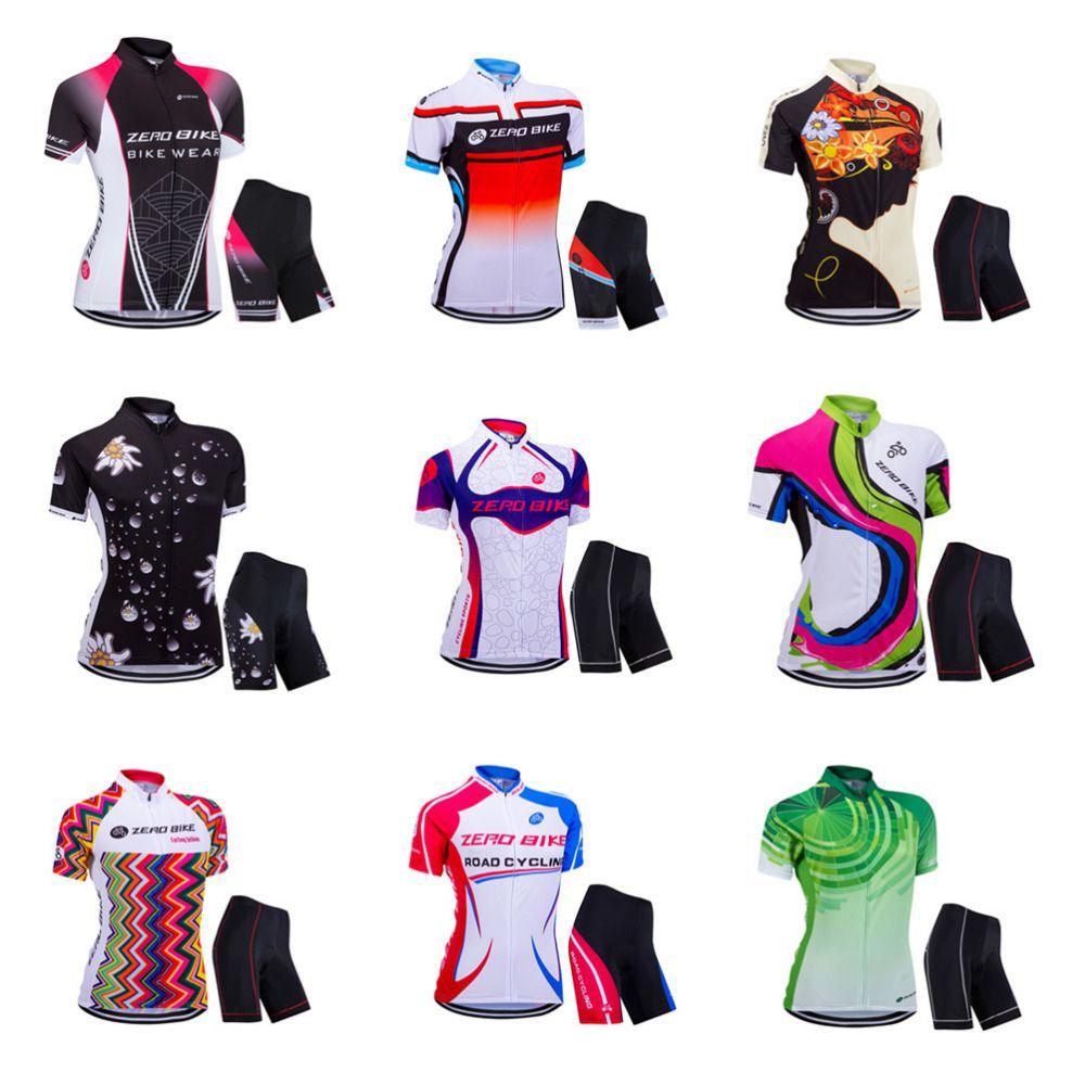 ZEROBIKE High Quality Women's MTB Bike Quick Dry <font><b>Jersey</b></font> Shorts 3D Padded Summer Sports Shirt Tops Cycling Clothing Ropa Ciclismo