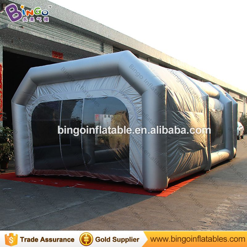 26.2ft x 15.4ft x 9.8ft inflatable paint spray booth / blow up auto paint booth / paint booth china toy tents