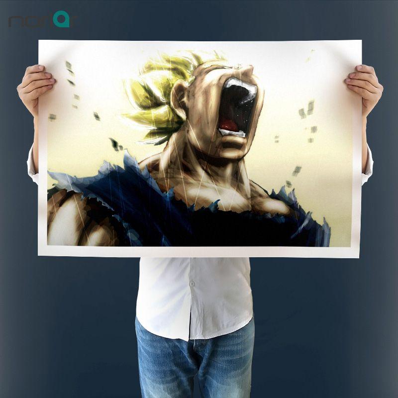 Sans cadre de Haute Qualité Imprimé Vegeta Super Saiyan Cri Peinture Sur Toile pour la Décoration Murale Toile Art Print Affiche