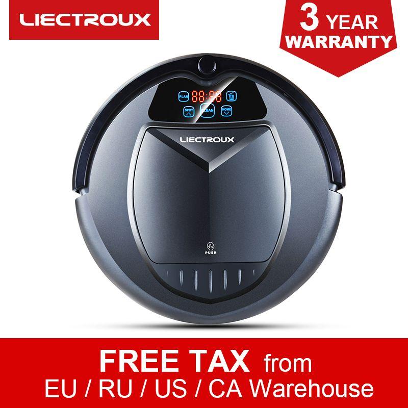 LIECTROUX B3000 Roboter Staubsauger, Intelligente Teppich Kehrmaschine, Zeitplan, Virtuelle Blocker, Selbst Lade, fernbedienung,