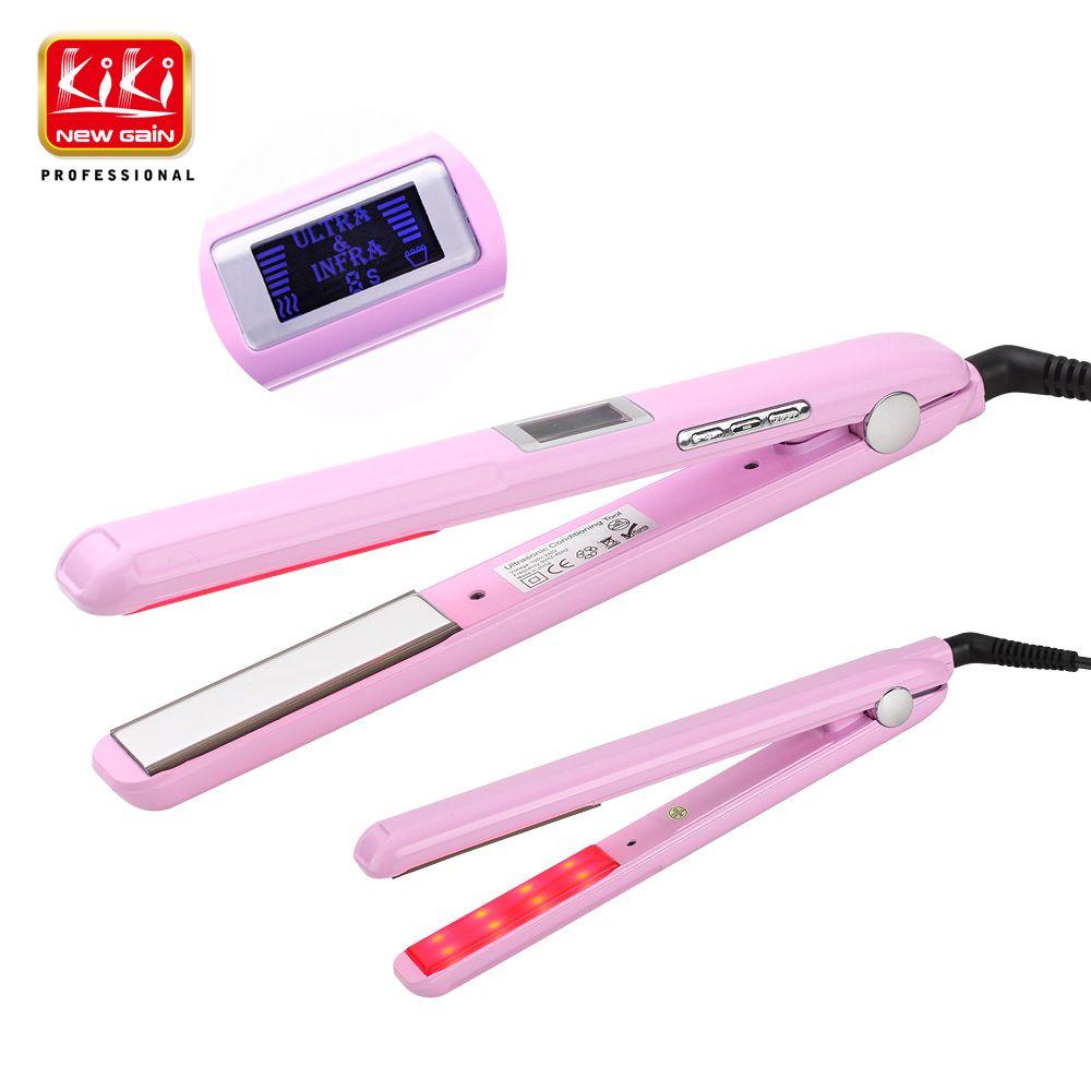 2017. le fer de soin de cheveux ultrasonique et infrarouge récupère le traitement de soin de cheveux de fer froid de Styler de traitement de cheveux de cheveux endommagé