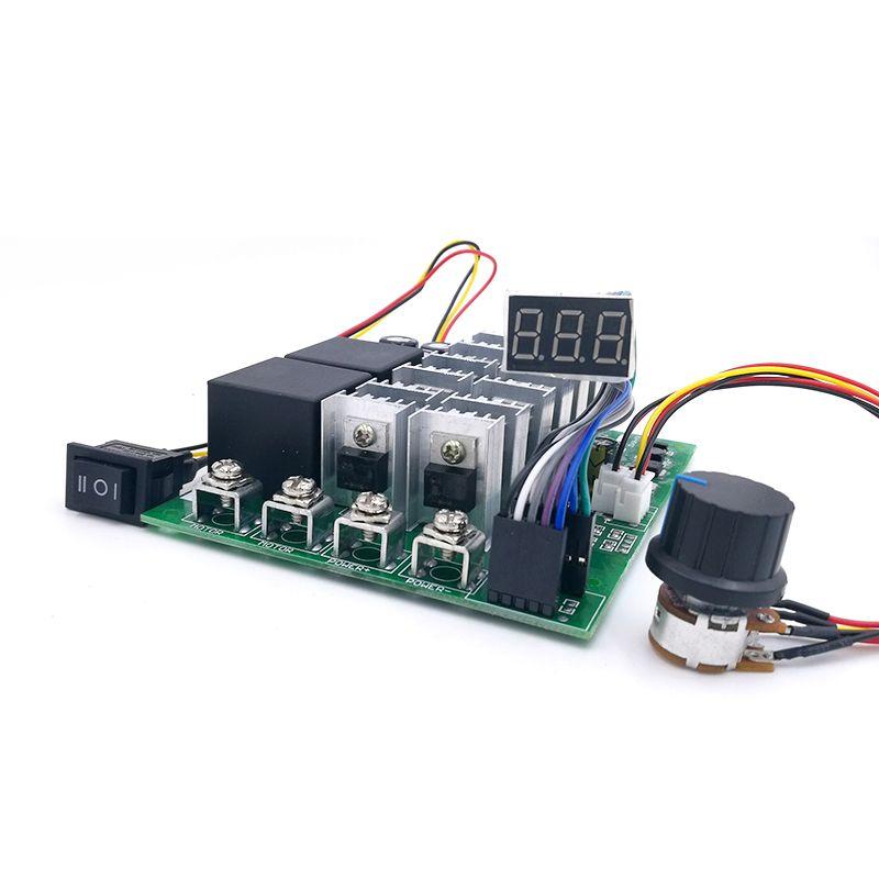 60A Digital display PWM speed controller module 10-55V 0~100% adjustable forward reversal DC motor MAX 100A 12V 24V 36V 48V
