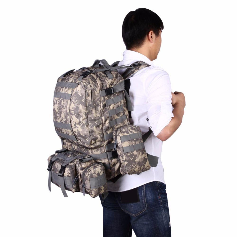 Outdoor-Rucksack Militärische Taktische tasche Rucksack Sporttasche Super Große Kapazität Camping Wandern Rucksack Mochila Militar