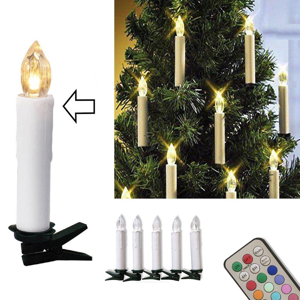 10 шт. Рождество елка украшения Беспроводной LED Свечи 12 Цветов Дистанционное управление Батарея на батарейках свет для всех святых свадьбу