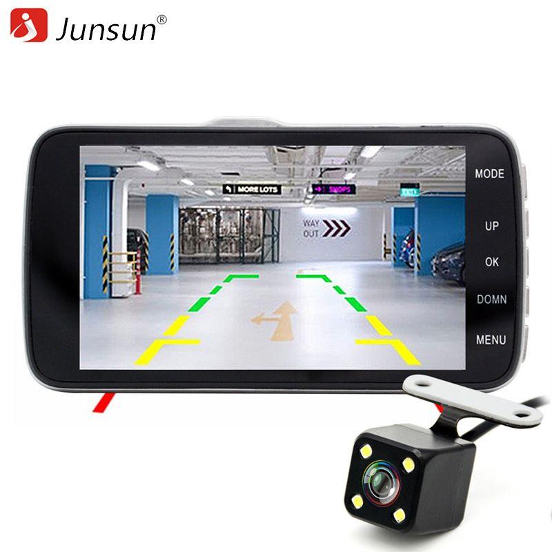 Junsun Лучший Автомобильный ВИДЕОРЕГИСТРАТОР Камера Даш Cam AIT8328P 1080 P 4.0