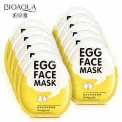 BIOAQUA Oeuf Visage Masques Contrôle de L'huile Égayer Enveloppé Masque Tendre Hydratant Visage Masque Soins de La Peau hydratant masque