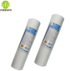 2 Pces 10 INCH 1 MICRON PPF/SEDIMENT WATER FILTER CARTRIDGE Water Purifier Front Filter Cartridge Aquarium FOR REVERSE OSMOSIS
