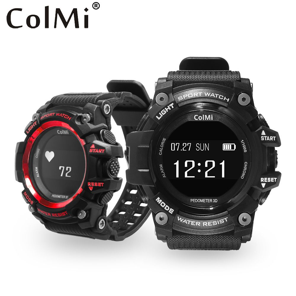 ColMi T1 Smart Watch Waterproof IP68 Heart Rate Monitor Bluetooth 4.0 Outdoor Sport Clock For IOS Android Phone Smartwatch