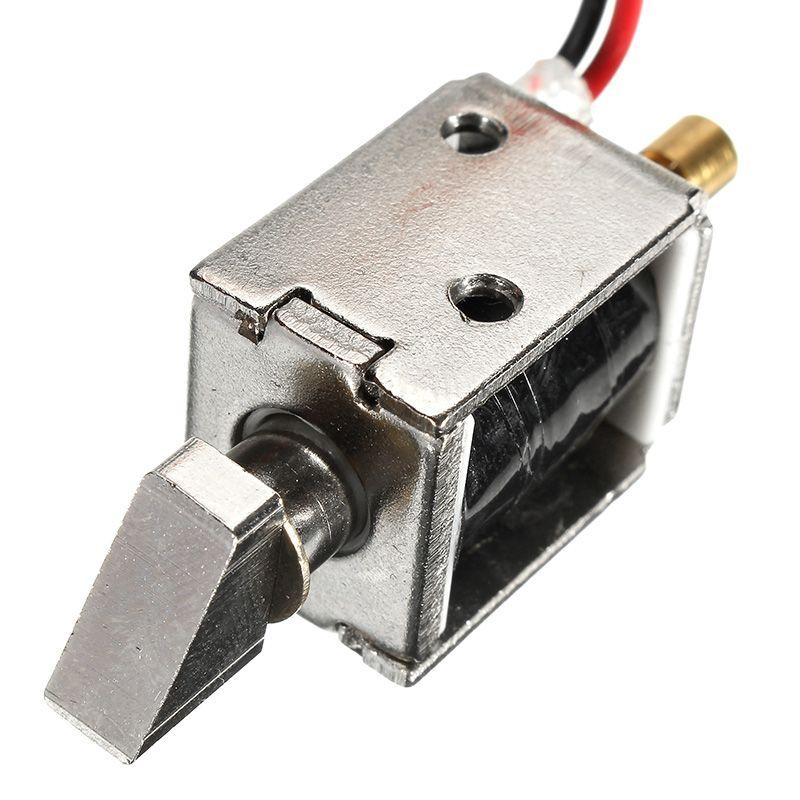 Safurance 12 V 0.43A DC Mini Electric Pestillo de la Cerradura Del Gabinete de Bloqueo Push-Pull Solenoide 4mm Stroke Control de Acceso Seguridad para el hogar