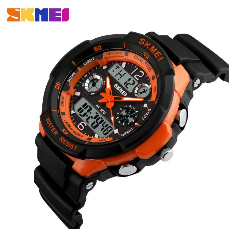 SKMEI marque de luxe montres de sport résistant aux chocs hommes LED montre militaire numérique montres à Quartz Relogio Masculino 0931
