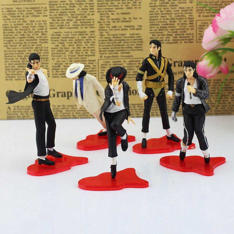5Pcs/Set MICHAEL JACKSON Action FIGURES 5 POSE PVC Model Dolls Toys 4