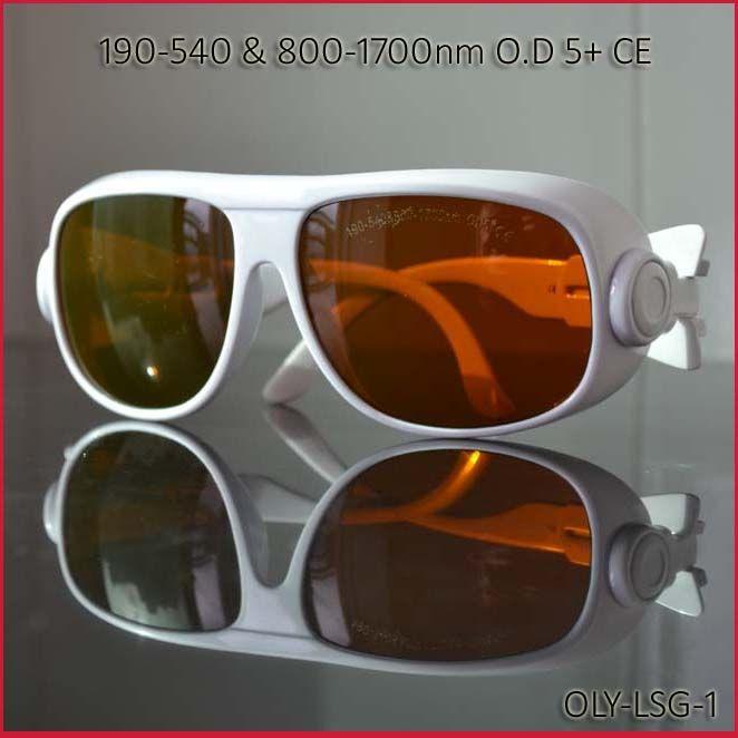 Laser schutzbrille für 190-540nm & 800-1700nm 266nm, 405-450nm 532 808 980 1064 auf O.D 5 + CE