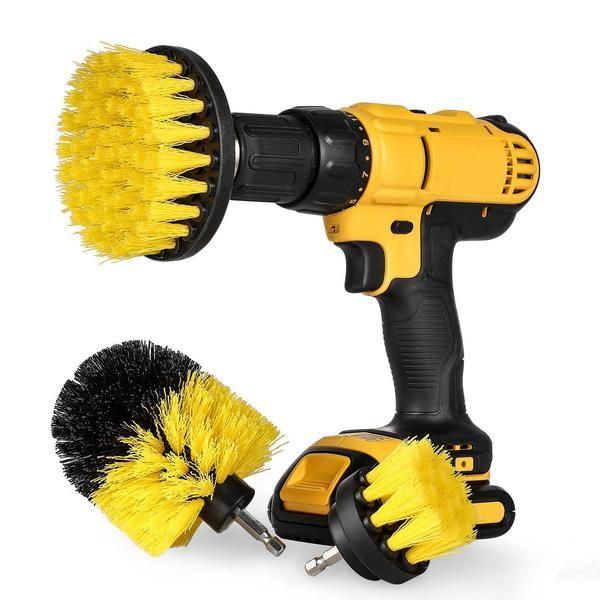 3 pièces brosse à récurer ensemble brosse à récurer pour salle de bain nettoyage Kit de fixation perceuse sans fil brosse à récurer