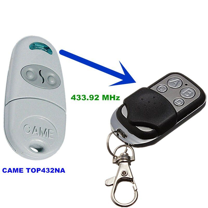 Copy CAME TOP 432NA Duplicator 433.92 mhz remote control Universal Garage Door Gate Fob Remote Cloning 433 mhz Transmitter