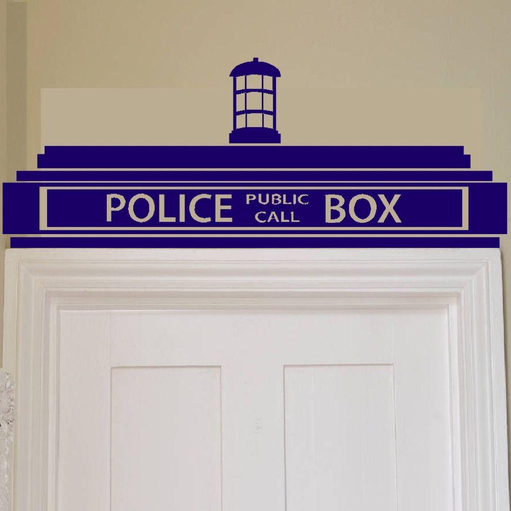 Livraison gratuite Creative Doctor Who Tardis Police Box Wall Sticker/Décor Conception Transfert Enfants Vinyle, H0017
