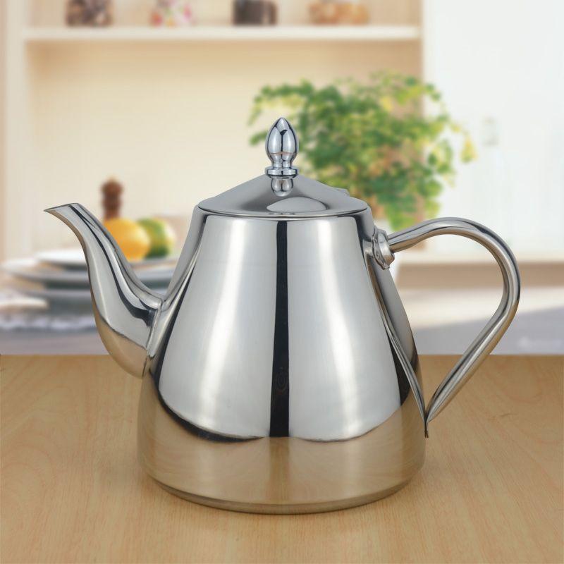 Sanqia 1500 ml nouveau style en acier inoxydable bouteille d'eau bouilloire d'eau boisson pot d'eau approprié goutte à goutte café bouilloire articles de cuisine