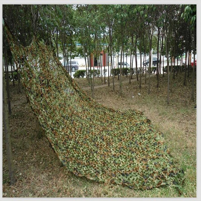 Large Size Jungle Camouflage Net Beach Tent Hunting Camping Military Camouflage Netting Sun <font><b>Shelter</b></font> Outdoor Car Shade Cover