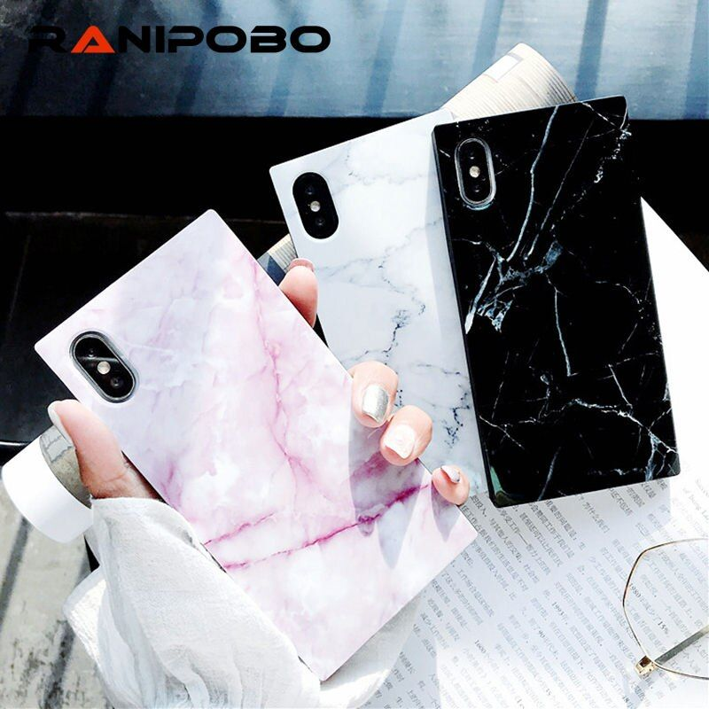 Marble texture Pattern Phone Cases For iPhone 7 Plus Glossy Soft TPU Silicone Case For iPhone X 8 7 6 6s Plus Back Cover Coque