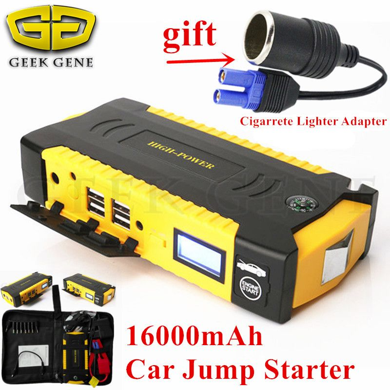 Emergency Car Jump Starter 16000mAh Portable Starting Device Power Bank 12V 600A Car Charger For Car Battery Booster Buster CE