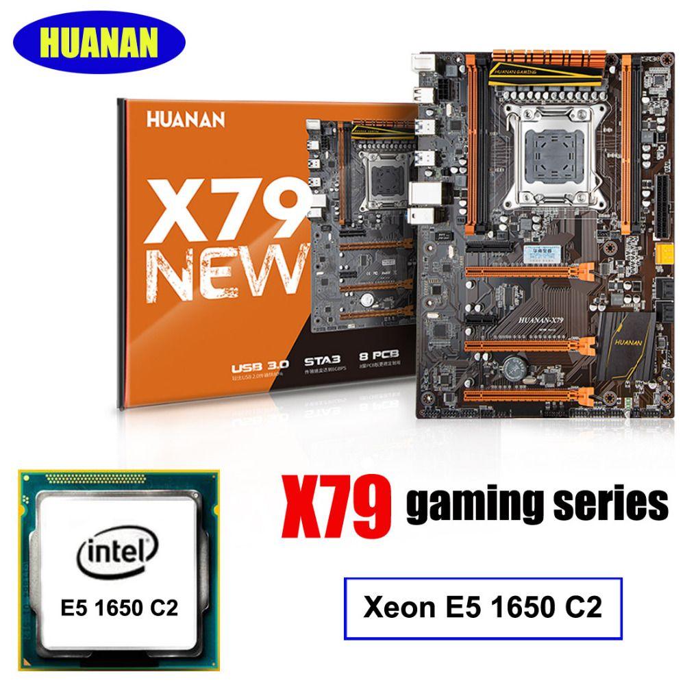 Marke HUANAN Deluxe X79 LGA2011 gaming motherboard CPU combos prozessor Xeon E5 1650 C2 computer montagezubehör build PC