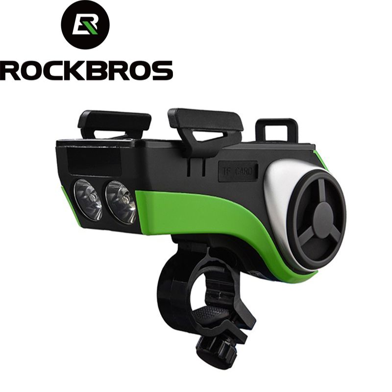 ROCKBROS Fahrrad Taschenlampe Wasserdicht Fahrrad Licht Telefon Halter Bluetooth Audio MP3 Lautsprecher 4400 mah Power Bank Fahrrad Ring Glocke