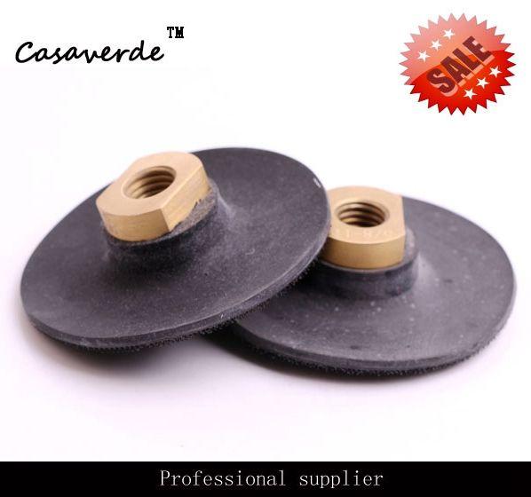 Super dünne gummi 4 zoll backer pads mit M14 oder 5/8-11 gewinde für grinder maschine und polieren pads