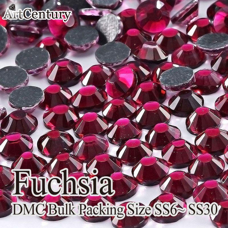 Kleidungsstück zubehör groß verpackung 50 gross ss30 glas material fuchsia dmc hotfix rhinestones für diy