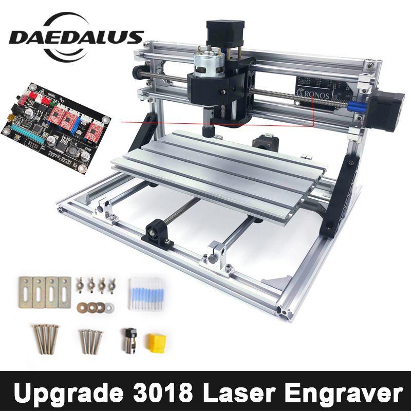 CNC Router CNC 3018 Laser Cutter MIni Laser Gravur MachineDIY Stecher Werkzeug Fräsen Holz Router GRBL Control Für Holzbearbeitung