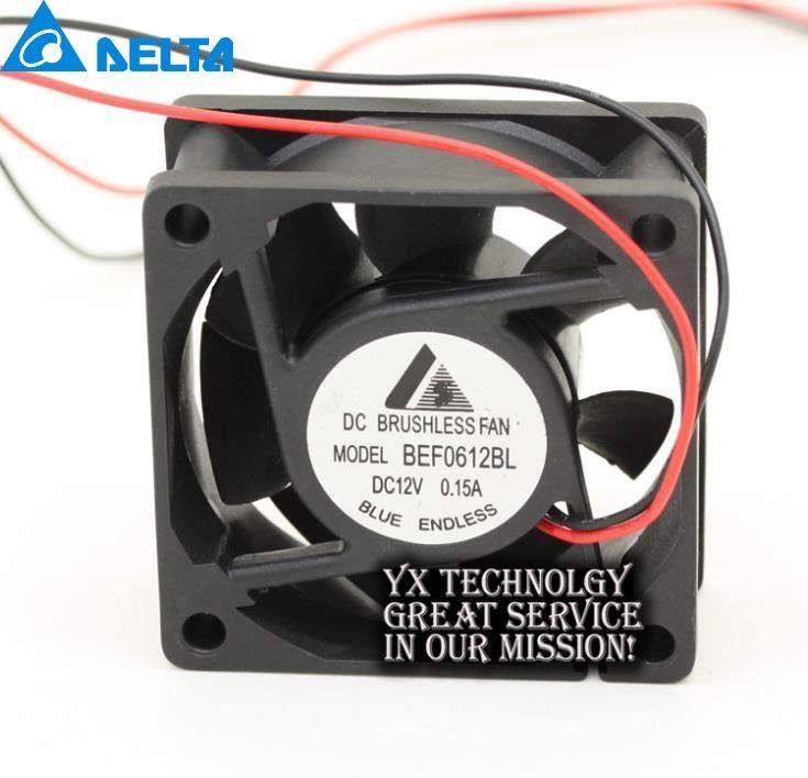 Delta New 6cm BEF0612BL 6025 6cm 6 DC 12V 0.15A server inverter case coole cooling fans for  60*60*25mm