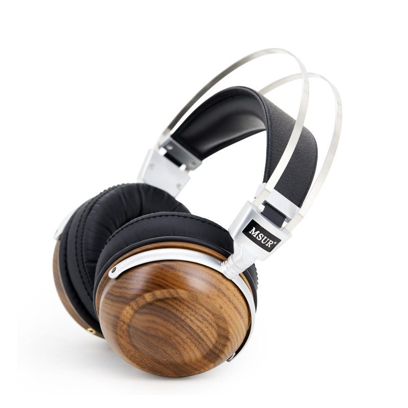 Original MSUR N550 HiFi Headphones Wooden Metal Headphone Headset Earphone With Beryllium Alloy Driver With Protein Leather