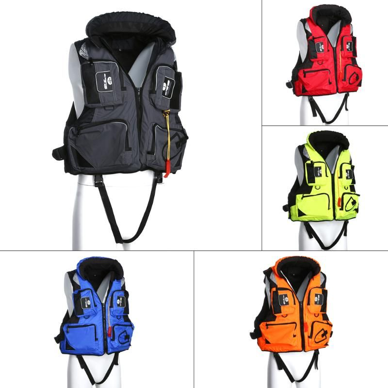 5 Colors Hot High Quality Swimming Jacket Outdoor Vest Life Fishing Adult Drifting Boating Survival Safety Jackets Water Sports