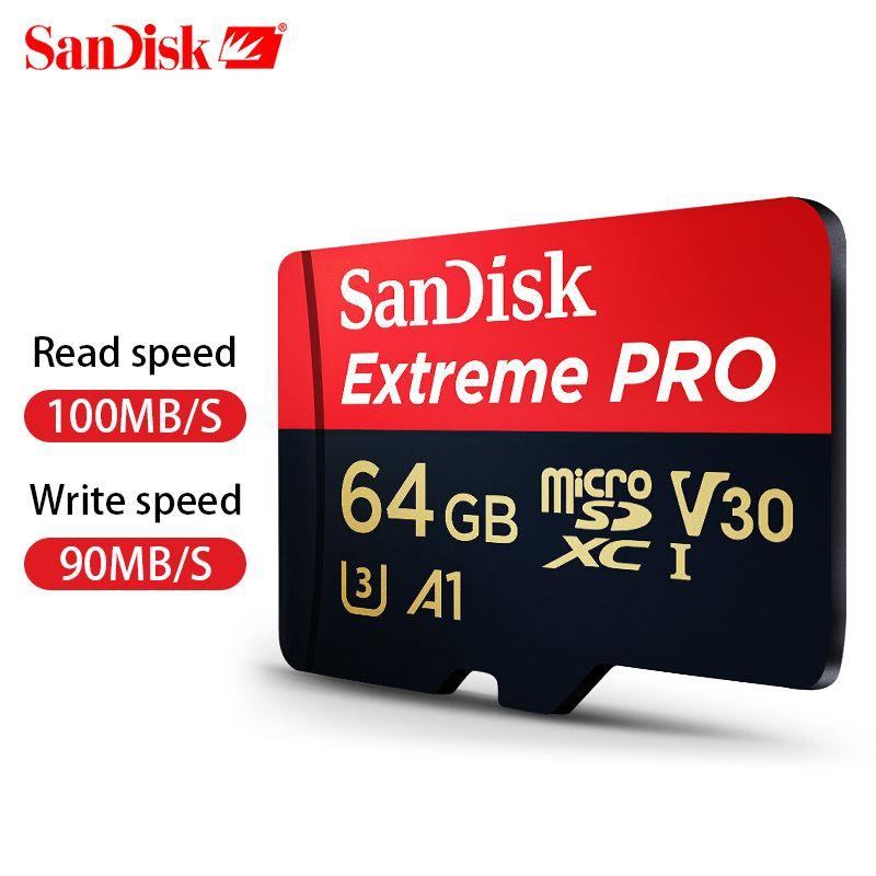 SanDisk Extreme Pro microSDHC/microSDXC Neue upgrade Speicher Karte microSD Karte TF Karte 100 MB/s 64 gb class10 U3 A1 V30