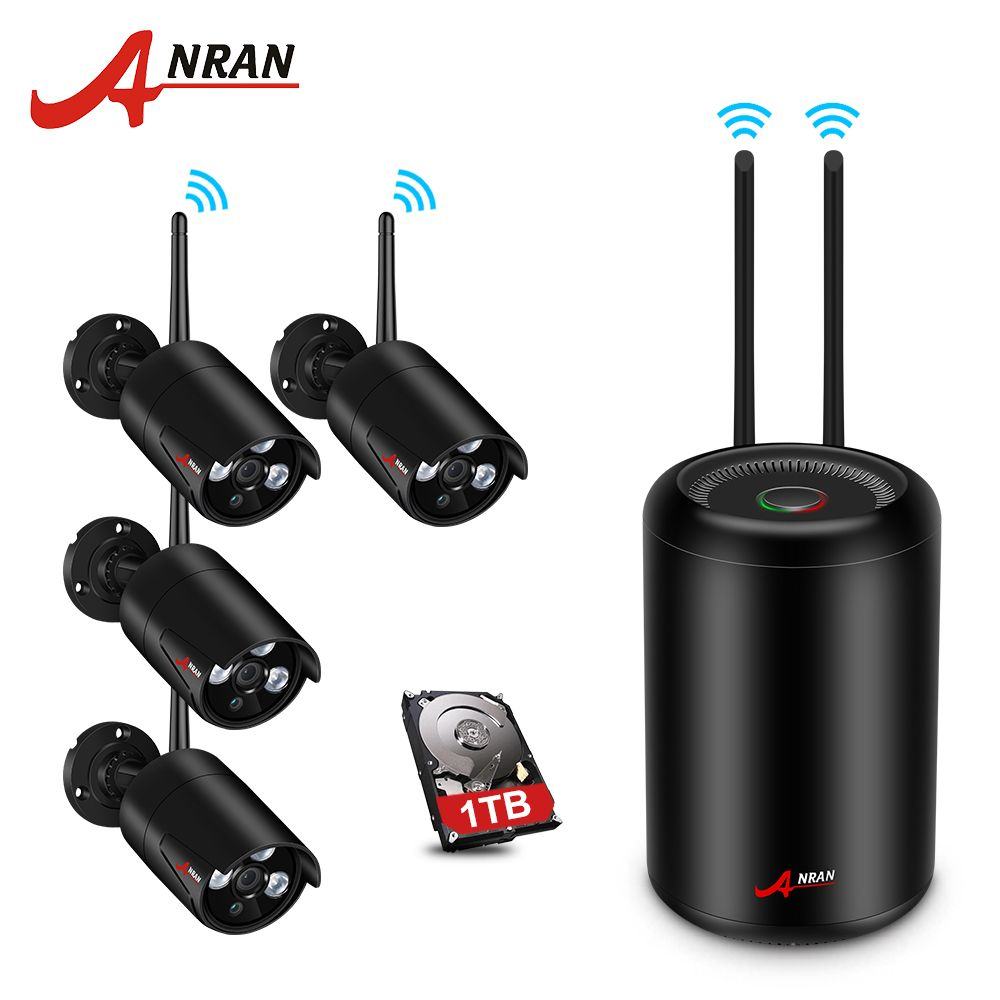 ANRAN Wireless Camera System 8CH NVR Kit With 4PCS 960P Waterproof IR Night Vision IP Camera Video Surveillance System