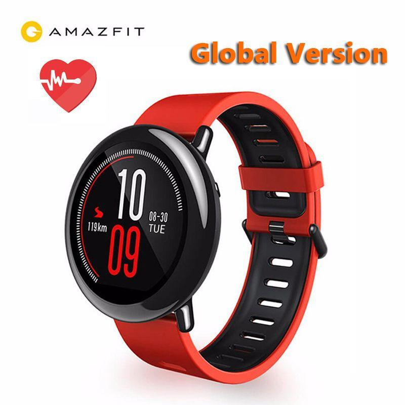 Original Xiaomi Huami montre AMAZFIT Pace GPS en cours d'exécution Bluetooth 4.0 Sports montre intelligente moniteur de fréquence cardiaque CE écran tactile Global