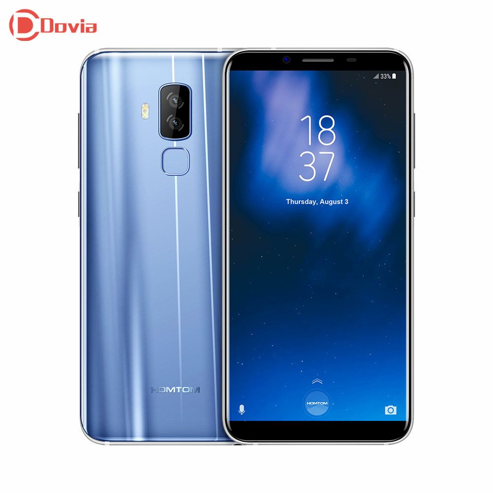 HOMTOM S8 4G Smartphone 5.7 inch MTK6750T Smart Gesture Finger Scanner 4GB RAM 64GB ROM 16.0MP + 5.0MP Mobile Phone