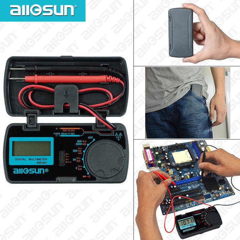 ALL SUN all-sun EM3081 EM3082 Digital Multimeter 3 1/2 1999 AC/DC Ammeter Voltmeter Ohm Portable Meter voltage meter