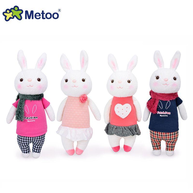 Poupées de lapin originales METOO Tiramisu jouets en peluche enfants 8 style, 35 cm lapin peluche animaux Lamy lapin cadeaux avec boîte-cadeau